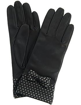 Roeckl Damen Chic Weaving Handschuh Black Silver