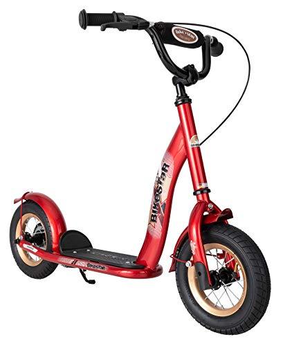 BIKESTAR Monopattino con freni, parafango e pneumatici per bambini di 5 anni, edizione classica con cerchi in lega 25,4 cm, rosso