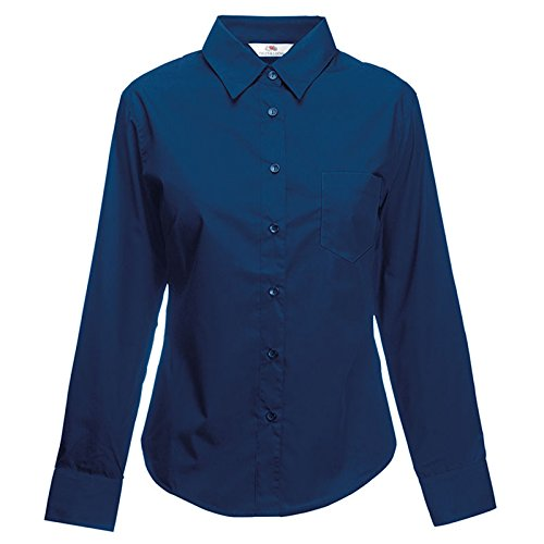 Fruit of the Loom - Chemisier - Moderne - Femme Bleu Marine