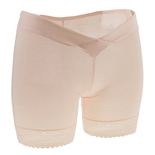 Prettyia Modal Mutterschaft Low Rise Unterwäsche Unter Bauch Slip Unterhosen Sicherheits Shorts Kurz Leggings Panties Hipster - Rosa, L