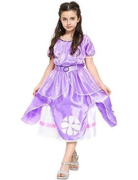 Katara Sofia die Erste Kleid - Kostüm für Mädchen in Lila - inspiriert von Disney Prinzessin für Karneval, Fasching...
