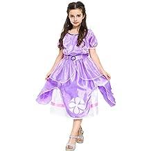 Katara 1745- Disfraz de Princesa Sofía, vestido de hadas con mangas cortas para niñas de 2 y 3 años, color violeta