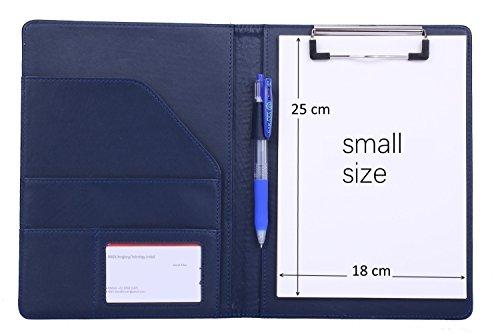 a5-portapapeles-soporte-para-bloc-de-notas-organizador-de-archivos-con-bolsillo-interior-color-azul