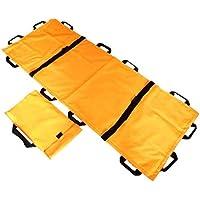 Camilla plegable de Oxford con 12 manijas Camilla de espalda de rescate plegable/de emergencia a prueba de agua con bolsas de almacenamiento para hospital, hogar, instalaciones deportivas,orange