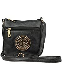 LIFZA Fashionable Textured Faux Leather Casual Sling Bag For Women / Girls