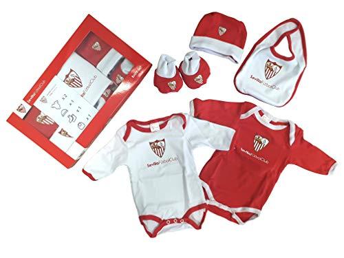 Sevilla CF Baby Set SFC - Conjunto de Ropa Unisex Bebé Pack de 5 Multicolor Rojo/Blanco 0-3 Meses...