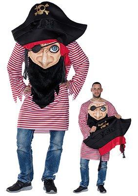 Seeräuber Kostüm Herren - Verrückter Pirat Herren Kostüm Seeräuber