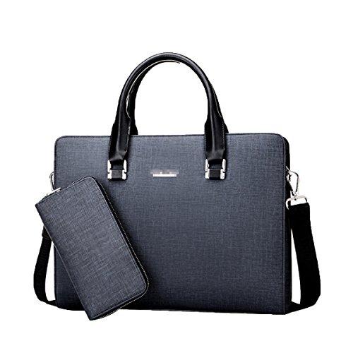 Feine Business Mode Handtasche Männer Business Aktentasche Einzelne Schulter Computer Tasche,Grey-M