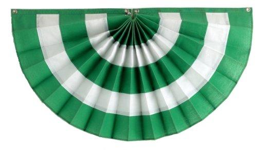 Independence Wimpelkette und Flagge, 5 Streifen, faltbar, Grün/Weiß/Grün Nylon 36x72
