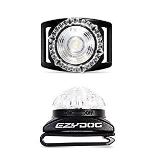 EzyDog Adventure Light for Dog Collar and Harness (White)