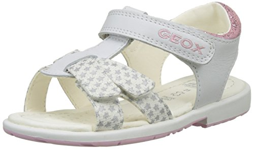 Geox B Verred D, Scarpe Primi Passi Bimba Bianco (WHITE/PINKC0406)