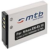 Batterie EN-EL12 pour Nikon Coolpix S9100, S9200, S9300, S9400, S9500
