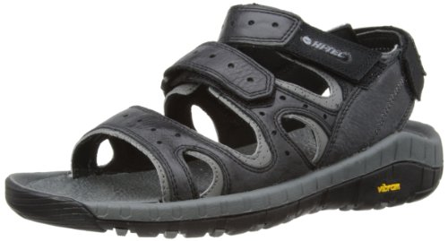 Hi-tec Sierra Canyon Pass, Sandales Homme Nero (Black/Grey)