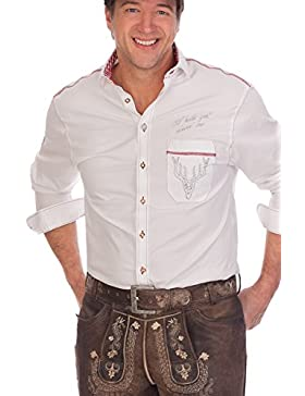 H1526 - Trachtenhemd mit langem Arm - weiß