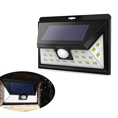 Xcdend Luci Solari Esterno, 44LED Lampada Solare con Sensore di Movimento IP65 Impermeabile Luce Solare da Parete con 3 modalità per Giardino, Vialetto, Sentiero