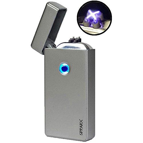 USB Feuerzeug, Lichtbogen Feuerzeu. Neue Technologie - Elektronisches Feuerzeug der neuen Generation, SPPARX Plasma Feuerzeug, elektronisches Feuerzeug, Doppelbogenstrahl, USB wiederaufladbar, winddic