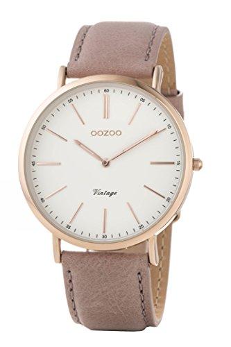 Oozoo Damen Digital Quarz Uhr mit Leder Armband C8165