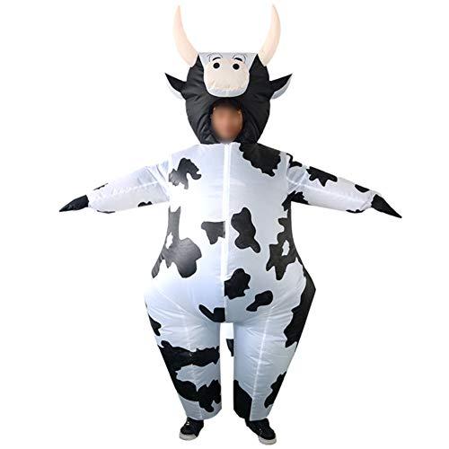 S+S Aufblasbare Kleidung Ranch Kuh Kreatives Spielzeug Halloween Weihnachten Cosplay Dress Up Party Parodie Kostüm Requisiten Geeignet Für Erwachsene Männer Und Frauen