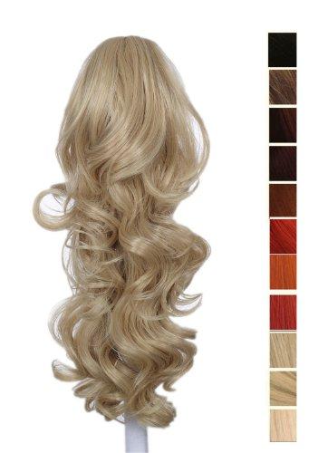 Prettyland - 60cm Extension Clip di estensione dei capelli ponytail della clip coda di cavallo ricci Haarteil- BL20