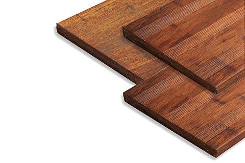 Bambus Dielen (Terrassendielen Bambus Massivplatte, Französisch/ glatt, Coffee, 30 x 300 x 950 mm)