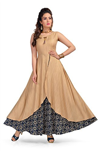 BEST Designer party wear rayon kurtis for womens - LATEST bollywood gown...