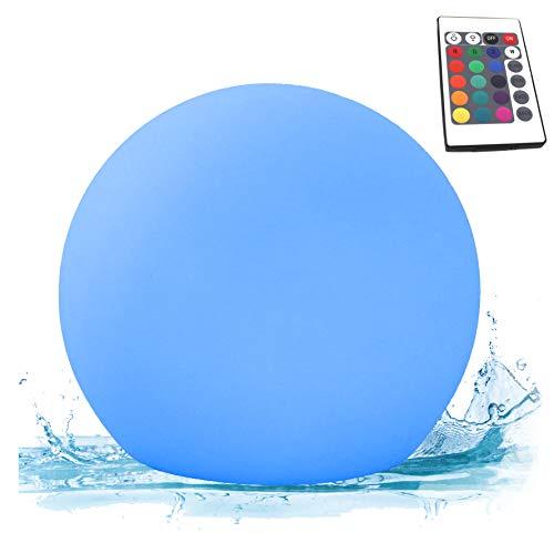 PK Green Erstklassige Schwimmlampe Poolleuchte | 20cm LED Kugel RGB mit Fernbedienung | Gartenleuchte Tischlampe Dimmbar Outdoor für Außen, Pool, Teich | Leuchtkugel Wasserdicht IP67 Außenbeleuchtung