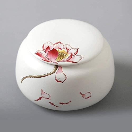 Zbao Schmuck Urne Feuerbestattung Andenken Asche Urnen Reine Handgemachte Keramik Dichtung Haustier Urne Box Kleintier Urne Glas Andenken Glas, 8,6 * 8,6 * 12,7 Cm,8,6 * 8,6 * 12,7 cm -