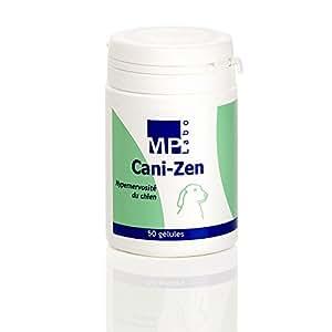 CANI-ZEN Pot de 50 gélules contre l'hypernervosité du chien.