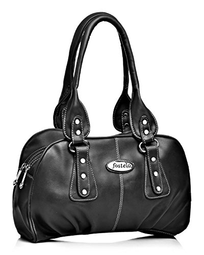 Fostelo Women's Valerie Shoulder Bag (Black) (FSB-941)
