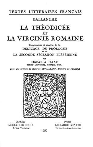 Couverture du livre La Théodicée et la Virginie romaine
