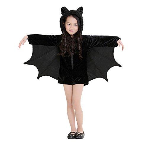 Erwachsene und Kinder gemütliche Fledermaus Kostüm Halloween Cosplay Kostüm für Jungen Mädchen (Fledermaus Gemütlich Kind Kostüme)