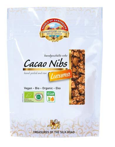Semillas de Cacao crudas endulzada con Lucuma Bio 700 gr granos habas granillas de cacao criollo ecológicas 100% naturales organic Cacao Nibs 7x100 gr