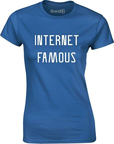 Brand88 - Internet Famous, Mesdames T-shirt imprimé Bleu/Blanc