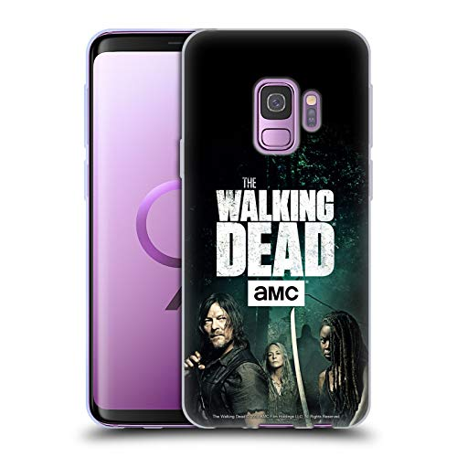 Head Case Designs Offizielle AMC The Walking Dead Daryl, Carol & Michonne Staffel 9 Zitate Soft Gel Hülle für Samsung Galaxy S9