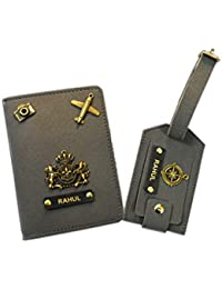 Giftsclub Grey Passport Cover with Luggage Tags