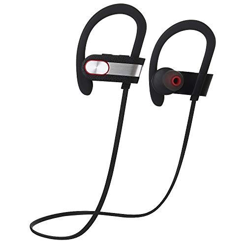 Elospy Bluetooth In-Ear mit Ohrbügel Kopfhörer, 6-8 Stunden Spielzeit/HD Audio, Wireless Sport Ohrhörer für Joggen/Laufen, Magnetisches Headset mit MEMS Mikrofon für iPhone Android