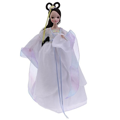 Tradico® Flexible 10 Joints Costume Vinyl Kurhn Doll Chinese Style Collectible White