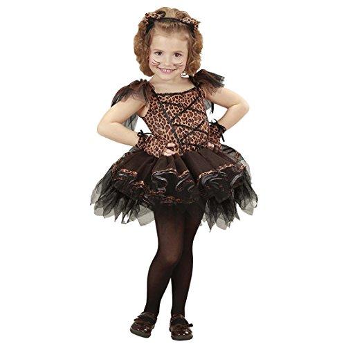 NET TOYS Ballerina Kostüm Leopard Tutu Katzenkostüm Kinder 116 cm 4-5 Jahre Leoparden Tütü Kinderkostüm Leopardenkostüm Mädchen Katzen Kleid Ballett Tierkostüm Karnevalskostüme Katze