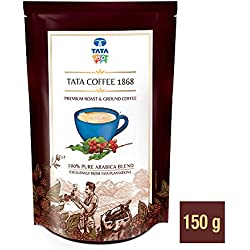 Tata Coffee 1868 100% Pure Arabica Blend Pouch, 150 g