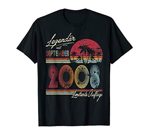 Legendär seit September 2008 Tshirt 11 Geburtstag Geschenk -