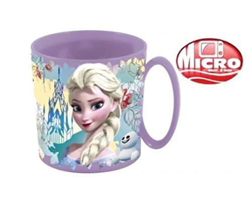 Becher Tasse , kompatibel zu Disney Die Eiskönigin Frozen, für Kinder rosa mit ELSA, Anna und Olaf 8cm 360ml