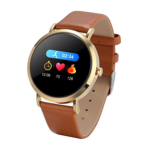 Saingace(TM) Frau Fitness Armband, Großes Zifferblatt Smart Watch wasserdichte Fitness Tracker Aktivitäts Uhr , Damen Armbanduhr Pulsmesser Kalorien Sportuhr für Android iOS (D)