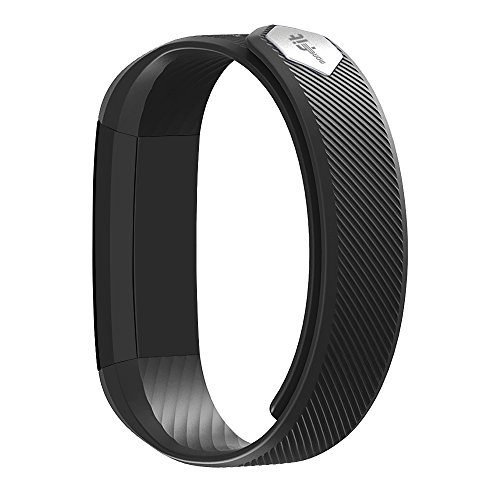 moreFit Slim Fitness Tracker Smart Fitness Bracelets Activity Pedometer Wristband Sleep Tracker Touch Screen Smartwatch for Android and IOS Smart Phones, Black