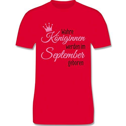 Geburtstag - Wahre Königinnen werden im September geboren - Herren Premium T-Shirt Rot
