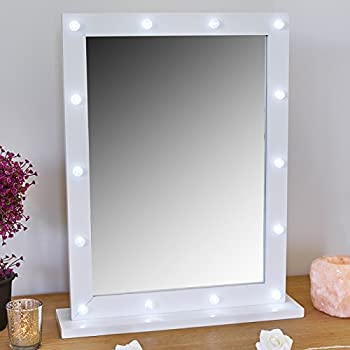 Port Co 2 In 1 Hollywood Led Light Wall Dressing Table