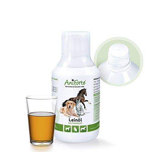 aniforte-kaltgepresstes-leinol-250-ml-naturprodukt-fur-hunde-katzen-pferde