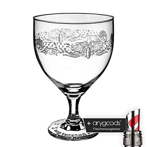 Hendricks Gin Glas Gläser Edel Design Relief Gastro Bar Deko NEU + anygoods Flaschenausgiesser