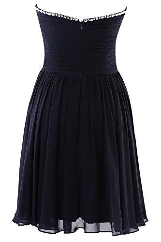 YiYaDawn Kurzes Partykleid Cocktailkleid Brautjungfernkleid für Damen Weinrot