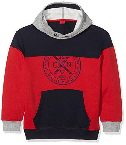 s.Oliver Jungen Sweatshirt 61.710.41.3163, Rot (Red 3118), 164 (Herstellergröße: L/REG) (L/s Pullover Boys)