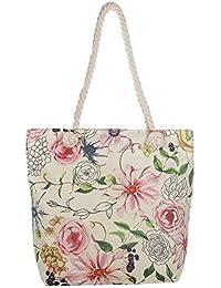 285ae73461974 MoGist Strandtasche mit Reissverschluss Schöne Mode Bunte Blumenmuster  Handtasche Damen Shopper…